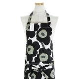 マリメッコ marimekko ピエニウニッコ エプロン(ホワイト×ブラック) APRON PIENI UNIKKO 064161 030 花柄 フラワー 白 黒