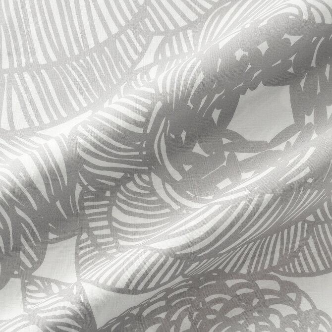 マリメッコ marimekko ファブリック生地 クルイェンポルヴィ (191 グレー) 10cm単位カット販売 066387 191 Cotton fabric KURJENPOLVI マリメッコ生地 DIY 布 花柄 フラワー
