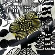 マリメッコ marimekko ファブリック生地 リントゥコト(192 ホワイト×ブラック) 10cm単位カット販売 067025 192 Cotton fabric LINTUKOTO