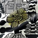 マリメッコ marimekko ファブリック生地 リントゥコト(192 ホワイト×ブラック) 10cm単位カット販売 067025 192 Cotton fabric LINTUKOTO HW ヘビーウェイトコットン マリメッコ生地