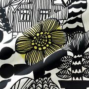 マリメッコ ファブリック リントゥコト ホワイト ブラック