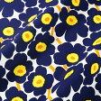 マリメッコ marimekko ファブリック生地 ミニウニッコ (002 ホワイト×ネイビー×イエロー) 10cm単位カット販売 066475 002 Cotton fabric MINI UNIKKO