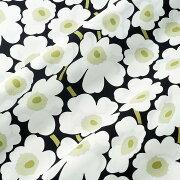マリメッコ ファブリック ミニウニッコ ホワイト ブラック