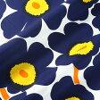 マリメッコ marimekko ファブリック生地 ピエニウニッコ (002 ホワイト×ネイビー×イエロー) 10cm単位カット販売 065205 002 Cotton fabric PIENI UNIKKO II