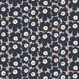マリメッコ marimekko ファブリック生地 ピエニウニッコ (995 アイスグレー×ネイビー) 10cm単位カット販売 065205 995 Cotton fabric PIENI UNIKKO II