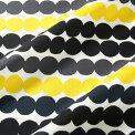 マリメッコmarimekkoファブリック生地ラシィマット(191ブラック×グレー×イエロー)10cm単位カット販売063280191CottonfabricRASYMATTO