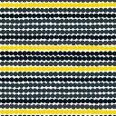 マリメッコ marimekko ファブリック生地 ラシィマット (191 ブラック×グレー×イエロー) 10cm単位カット販売 063280 191 Cotton fabric RASYMATTO マリメッコ生地