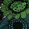 マリメッコ marimekko ファブリック生地 シィールトラプータルハ (160 ホワイト×グリーン系) 10cm単位カット販売 063267 160 Cotton fabric siirtolapuutarha