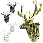 ハンティングトロフィーHuntingTtrophyシカ鹿アニマルヘッド日本製ハンドメイド北欧雑貨工作インテリアオブジェ壁飾り