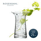 ROSENDAHL�?���������ҥե��ꥰ���١����饤�����21cm�ե��١������饹38055FiligranVASEtransparent