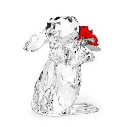スワロフスキーSWAROVSKIシンポルラビットウサギとローズ5.4x3.7x4.9cm(クリア×レッド)5063338RabitRoses【楽ギフ_包装】