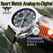 AMST/スポーツウォッチ/アナログデジタル/腕時計/男性用/50m防水/アラームクロック/LEDライト/クロノグラフ/日付/週/スポーツ/並行輸入品/AM3003
