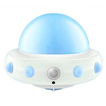 UFO ナイトライト 枕元 LED ライト 間接照明 子供部屋 ベッドサイド ランプ 授乳 寝室 常夜灯 リモコン操作 マグネット内蔵 USB充電式 5段階調光 ◇ALW-WH-L0506【定形外郵便】