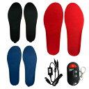電熱インソール 中敷き ヒートインソール USB充電式 リモコン付き 靴底 遠隔操作 フットウェア ...