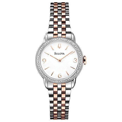 腕時計, レディース腕時計  98R182 Bulova Womens 98R182 Analog Display Analog Quartz Two Tone Watch 98R182