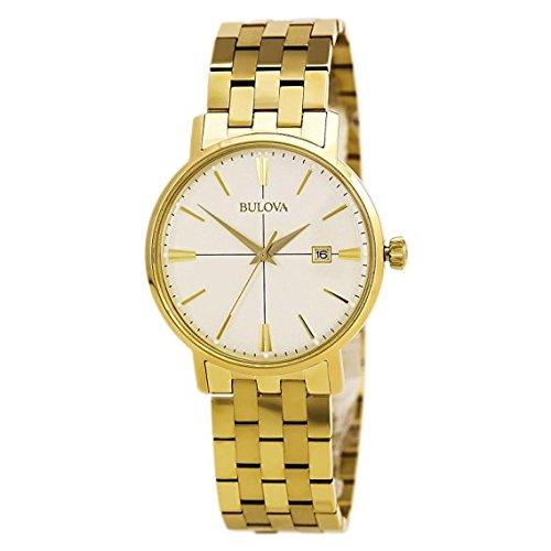 ブローバ 腕時計 メンズ 97B152 Bulova Mens Aerojet Gold Tone Watch 97B152ブローバ 腕時計 メンズ 97B152