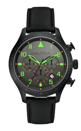ノーティカ 腕時計 メンズ Nautica A18686G - Men's Watch, Strap Leather Color Blackノーティカ 腕時計 メンズ