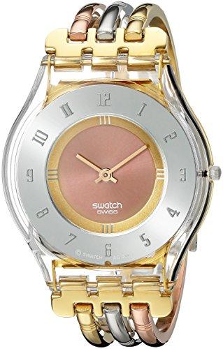 【当店1年保証】スウォッチSwatch Women's SFK240B Quartz Stainless Steel Gray And Pink Dial Watch