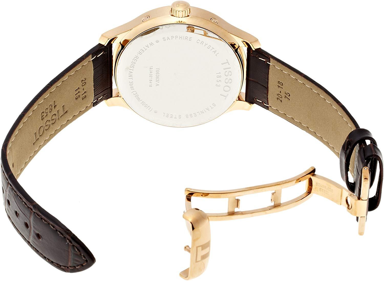 ティソ 腕時計 メンズ T0636373603700 Tissot Men's T0636373603700 Tradition Rose Gold Watch with Embossed Bandティソ 腕時計 メンズ T0636373603700