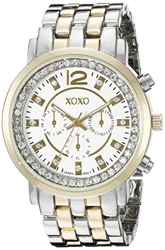 クスクス キスキス 腕時計 レディース XO5819 XOXO Women's XO5819 Two-Tone Stainless Steel Watch with Crystalsクスクス キスキス 腕時計 レディース XO5819