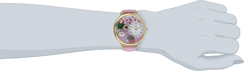 気まぐれな腕時計 かわいい プレゼント クリスマス ユニセックス WHIMS-G1210011 Whimsical Watches Women's G1210011 Tea Roses Pink Leather Watch気まぐれな腕時計 かわいい プレゼント クリスマス ユニセックス WHIMS-G1210011