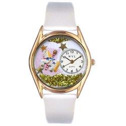 気まぐれな腕時計 かわいい プレゼント クリスマス ユニセックス C0420006 Whimsical Watches Kids' C0420006 Classic Gold Carousel White Leather And Goldtone Watch気まぐれな腕時計 かわいい プレゼント クリスマス ユニセックス C0420006