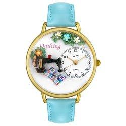 気まぐれな腕時計 かわいい プレゼント クリスマス ユニセックス WHIMS-G0450012 Whimsical Watches Women's G-0450012 Quilting Light Blue Leather Watch気まぐれな腕時計 かわいい プレゼント クリスマス ユニセックス WHIMS-G0450012