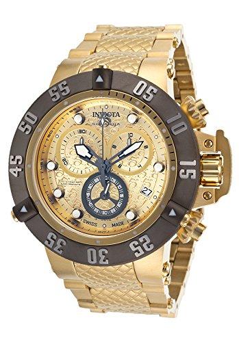 インヴィクタ インビクタ サブアクア 腕時計 メンズ Invicta 20158 Men's Subaqua Noma Iii Chrono 18k Gold Plated Steel Gold-tone Dialインヴィクタ インビクタ サブアクア 腕時計 メンズ