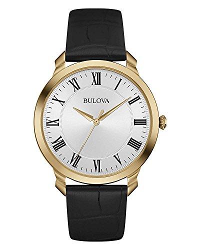 ブローバ 腕時計 メンズ 97A123 Bulova Men's 97A123 Stainless Steel Dress Watch With Black Leather Bandブローバ 腕時計 メンズ 97A123