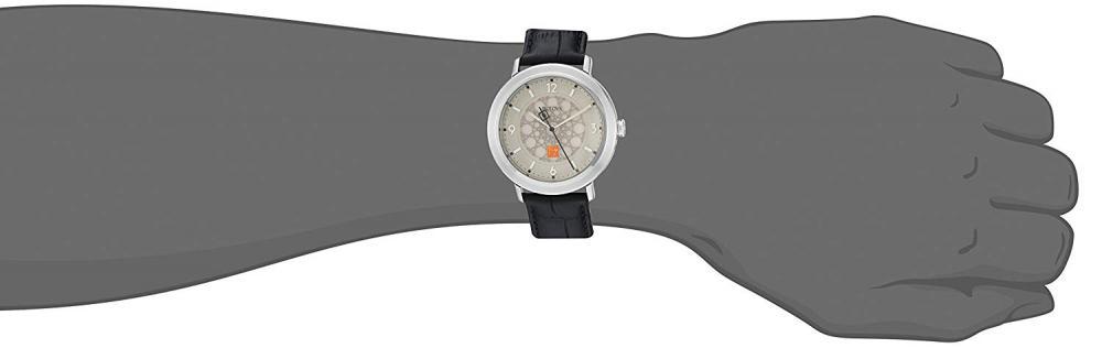 【当店1年保証】ブローバBulova Men's Quartz Stainless Steel and Leather Dress Watch, Color:Black (Model: 96A164)