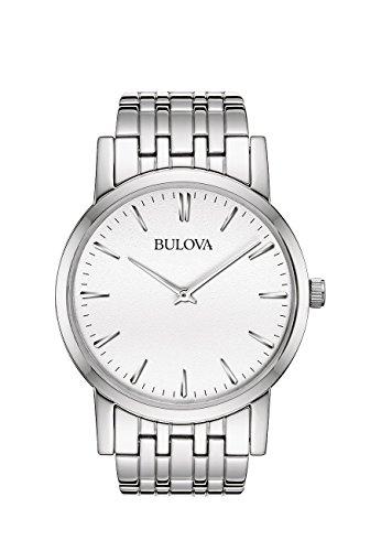 ブローバ 腕時計 メンズ 96A115 Bulova 96A115 Mens White Silver Dress Watchブローバ 腕時計 メンズ 96A115