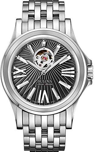 腕時計, メンズ腕時計  63A126 Mens Bulova AccuSwiss Kirkwood Black Dial Watch 63A126
