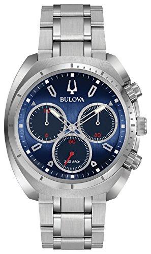 ブローバ 腕時計 メンズ 96A185 Bulova Men's Curv Collection Analog-Quartz Watch with Stainless-Steel Strap, Silver, 22 (Model: 96A185)ブローバ 腕時計 メンズ 96A185