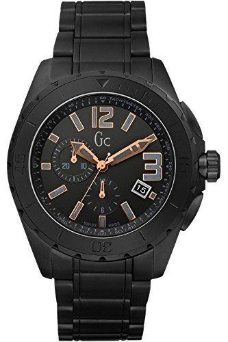 【当店1年保証】ゲスGuess Collection GC X76009G2S Black Ceramic Chronograph Men's Swiss Watch