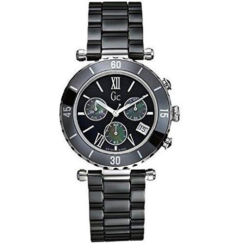 【当店1年保証】ゲスGuess GC G43001M2 38mm Ceramic Case Black Ceramic Mineral Men's Watch