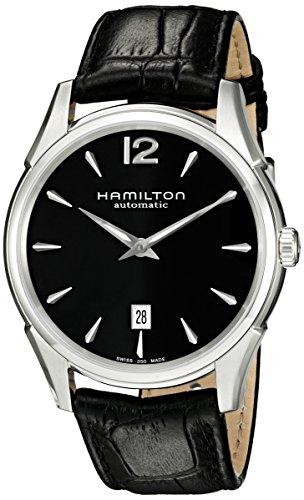 ハミルトン 腕時計 メンズ H38615735 Hamilton Men's H38615735 Jazzmaster Slim Black Dial Watchハミルトン 腕時計 メンズ H38615735