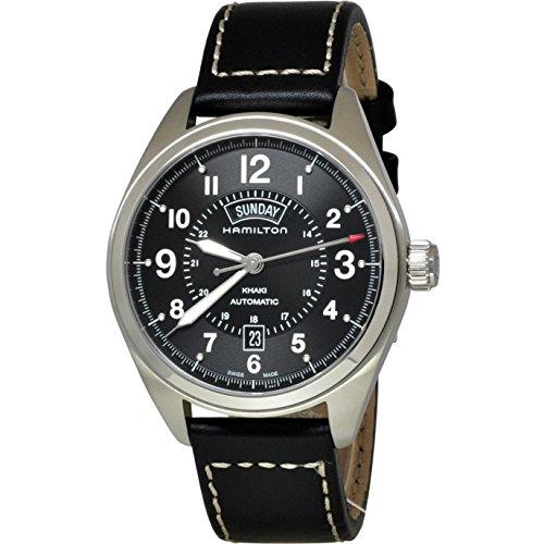 ハミルトン 腕時計 メンズ H70505733 Hamilton Khaki Field Blacl Dial Black Leather Mens Watch H70505733ハミルトン 腕時計 メンズ H70505733