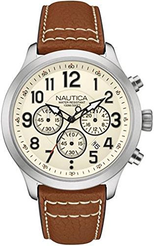 ノーティカ 腕時計 メンズ NAD14517G Nautica Men's NAD14517G NCC 01 CHRONO Analog Display Quartz Beige Watchノーティカ 腕時計 メンズ NAD14517G