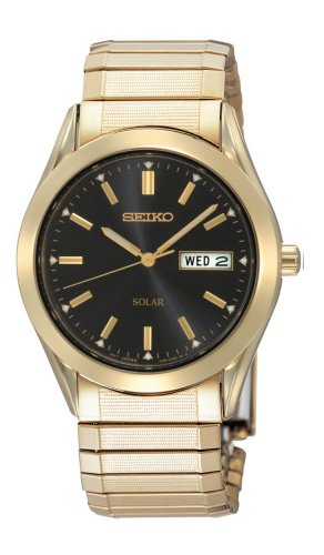 セイコー 腕時計 メンズ SNE060 Seiko Men's SNE060 Gold Tone Solar Black Dial Watchセイコー 腕時計 メンズ SNE060