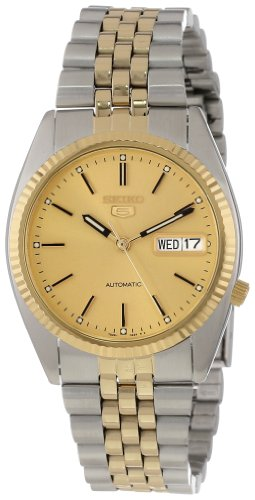 セイコー 腕時計 メンズ 夏のボーナス特集 SNXJ92 Seiko Men's SNXJ92 Seiko 5 Automatic Gold Dial Two-Tone Stainless-Steel Watchセイコー 腕時計 メンズ 夏のボーナス特集 SNXJ92