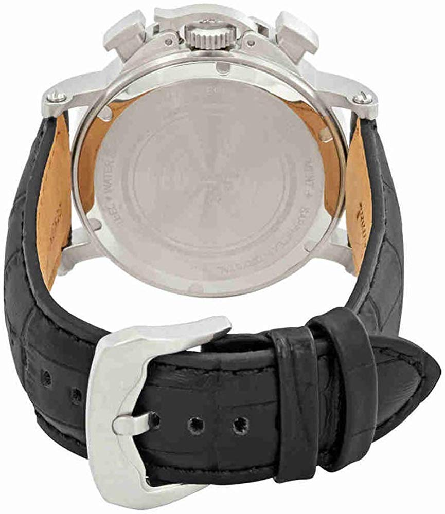 ルシアンピカール 腕時計 メンズ LP-40018C-01 Lucien Piccard Men's 'Triomf' Quartz Stainless Steel and Leather  Watch, Color:Black (Model: LP-40018C-01)ルシアンピカール 腕時計 メンズ LP-40018C-01