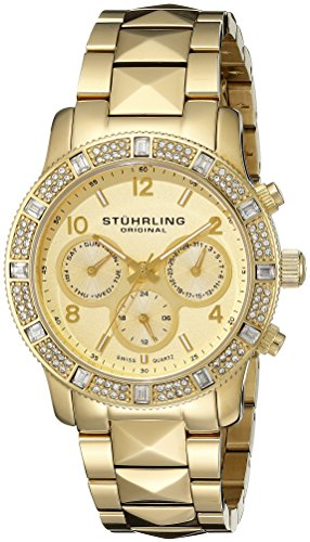 ストゥーリングオリジナル 腕時計 レディース 697.02 Stuhrling Original Women's 697.02 Symphony Nobilis Analog Display Swiss Quartz Gold Watchストゥーリングオリジナル 腕時計 レディース 697.02