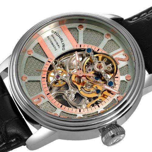 ストゥーリングオリジナル 腕時計 メンズ 308A.331554 Stuhrling Original Men's 308A.331554 Prospero Classic Automatic Skeleton Grey Dial Watchストゥーリングオリジナル 腕時計 メンズ 308A.331554