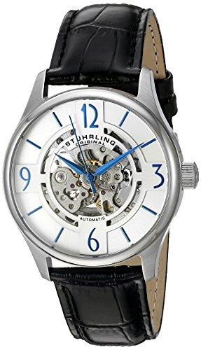 ストゥーリングオリジナル 腕時計 メンズ 557.01 Stuhrling Original Men's 'Legacy' Automatic Stainless Steel and Black Leather Dress Watch (Model: 557.01)ストゥーリングオリジナル 腕時計 メンズ 557.01