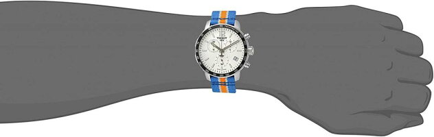 【当店1年保証】ティソTissotMen's'Quickster'SwissQuartzStainlessSteelandNylonWatch,MultiColor(Model:T09541