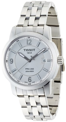 ティソ 腕時計 メンズ T0144101103700 Tissot Men's T014.410.11.037.00 PRC 200 Silver Dial Stainless-Steel Bracelet Watchティソ 腕時計 メンズ T0144101103700