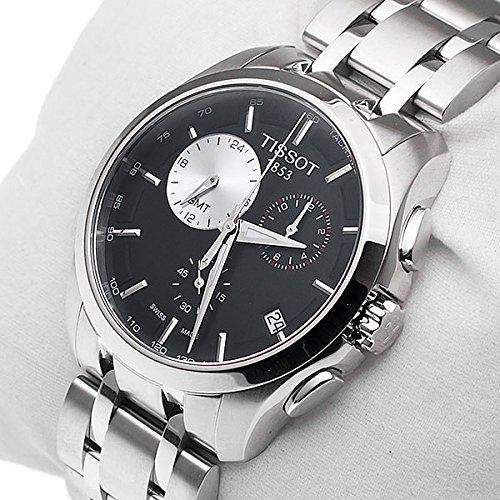 ティソ 腕時計 メンズ T0354391105100 Tissot Couturier GMT Mens Watchティソ 腕時計 メンズ T0354391105100