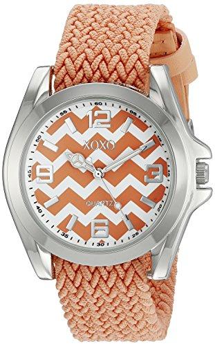 クスクス キスキス 腕時計 レディース XO3418 XOXO Women's XO3418 Silver-Tone Watch with Orange Bandクスクス キスキス 腕時計 レディース XO3418