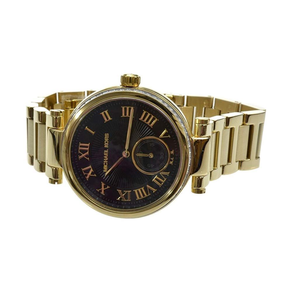 マイケルコース 腕時計 レディース マイケル・コース アメリカ直輸入 giftandjewels-W-MK5989 Michael Kors MK5989 Ladies Skylar Black Gold Watchマイケルコース 腕時計 レディース マイケル・コース アメリカ直輸入 giftandjewels-W-MK5989