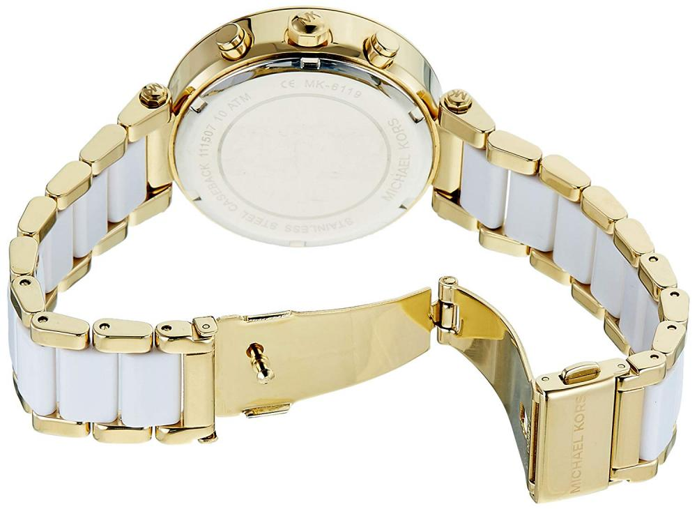 【当店1年保証】マイケルコースMichael Kors Women's Parker White Watch MK6119